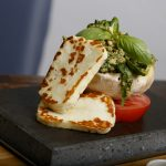 Haloumi, Buffalo Tomato and Pesto on the SteakStones Starter Set