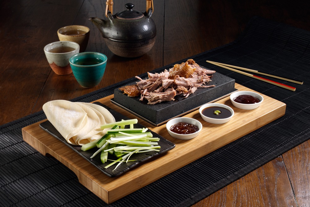 Sizzlling Crispy Duck with Pancakes, SteakStones Style