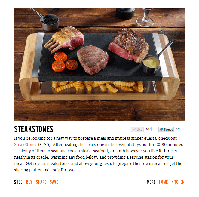 The SteakStones Sharing Platter on Uncrate