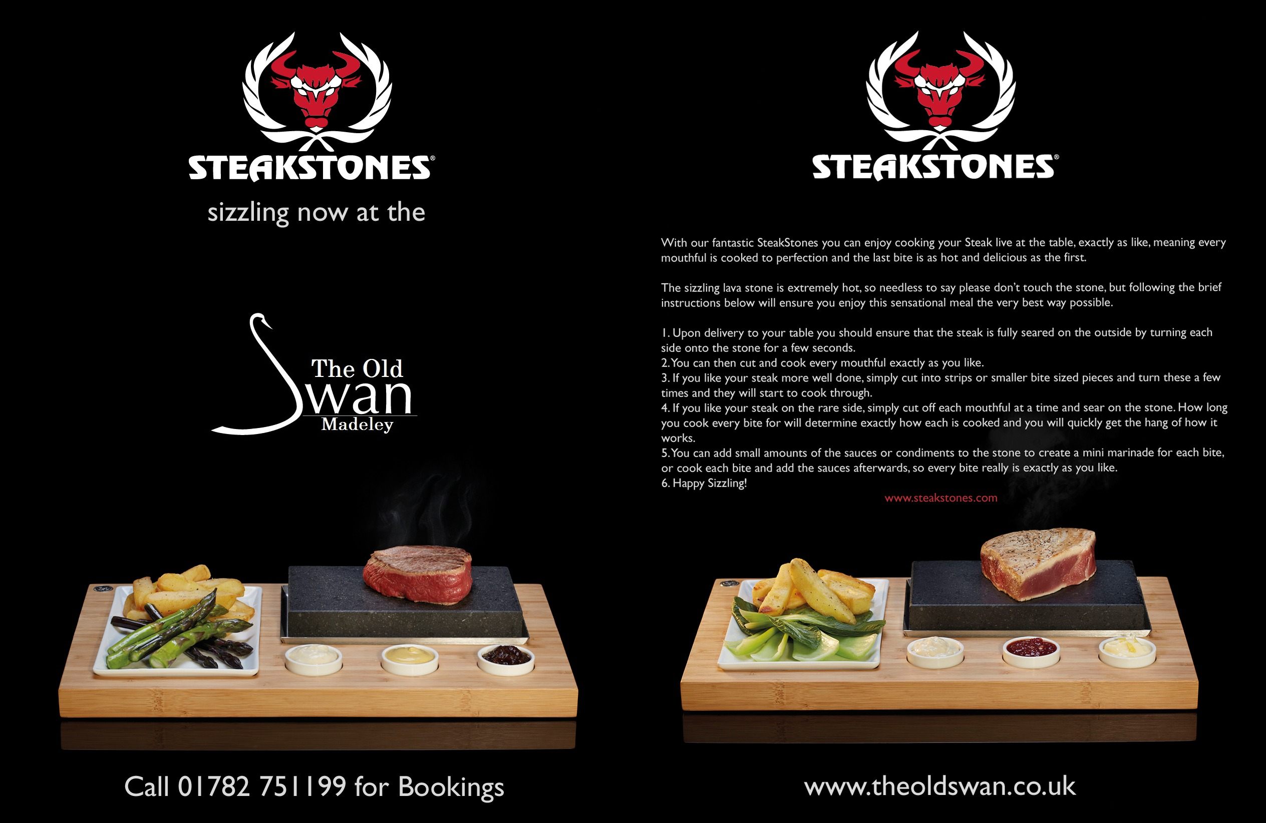 SteakStones Customised Instruction Cards