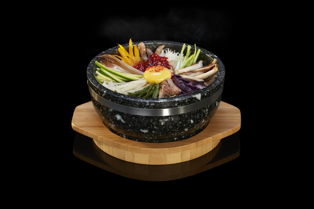The Sizzling Bowl from SteakStones, perfect for Bibimbap or Ramen Dishes