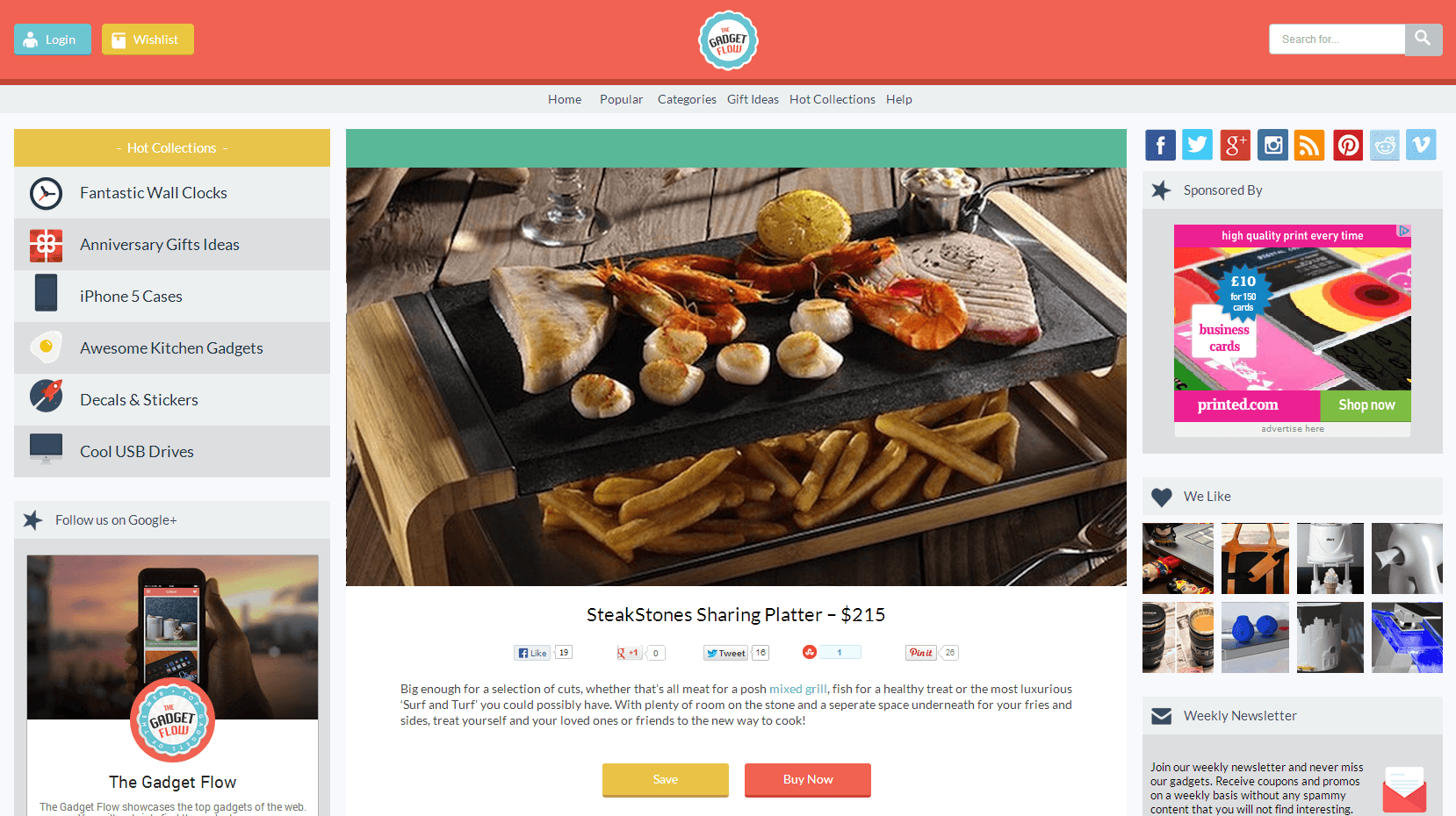 The SteakStones Sharing Platter showcased in The Gadget Flow
