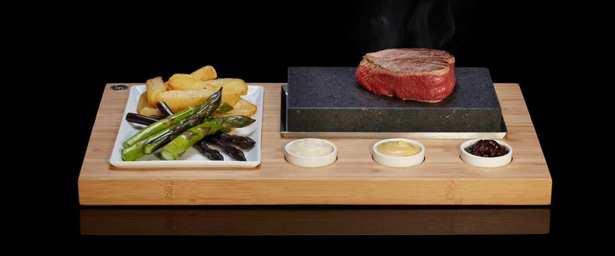 The Sizzling Steak Set from SteakStones, The Home of Hot Stone Cooking