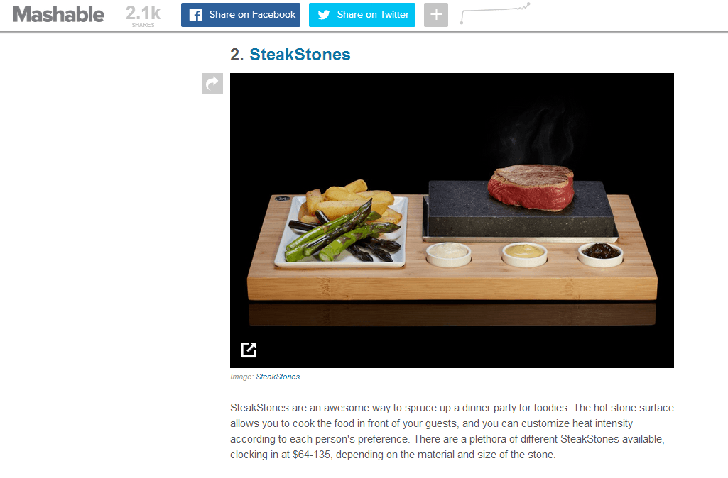 Mashable Review SteakStones