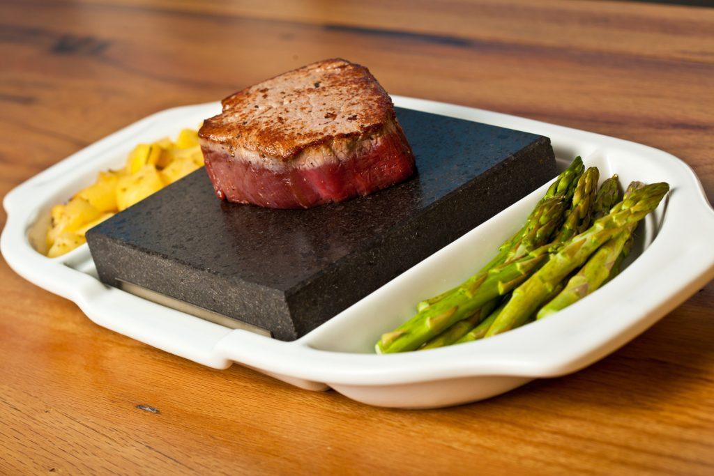 Fillet Steak on the SteakStones Ceramic Double Platter