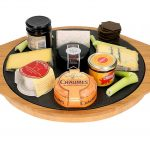 A delicious Cheese Platter on The SteakStones Pizza Stones