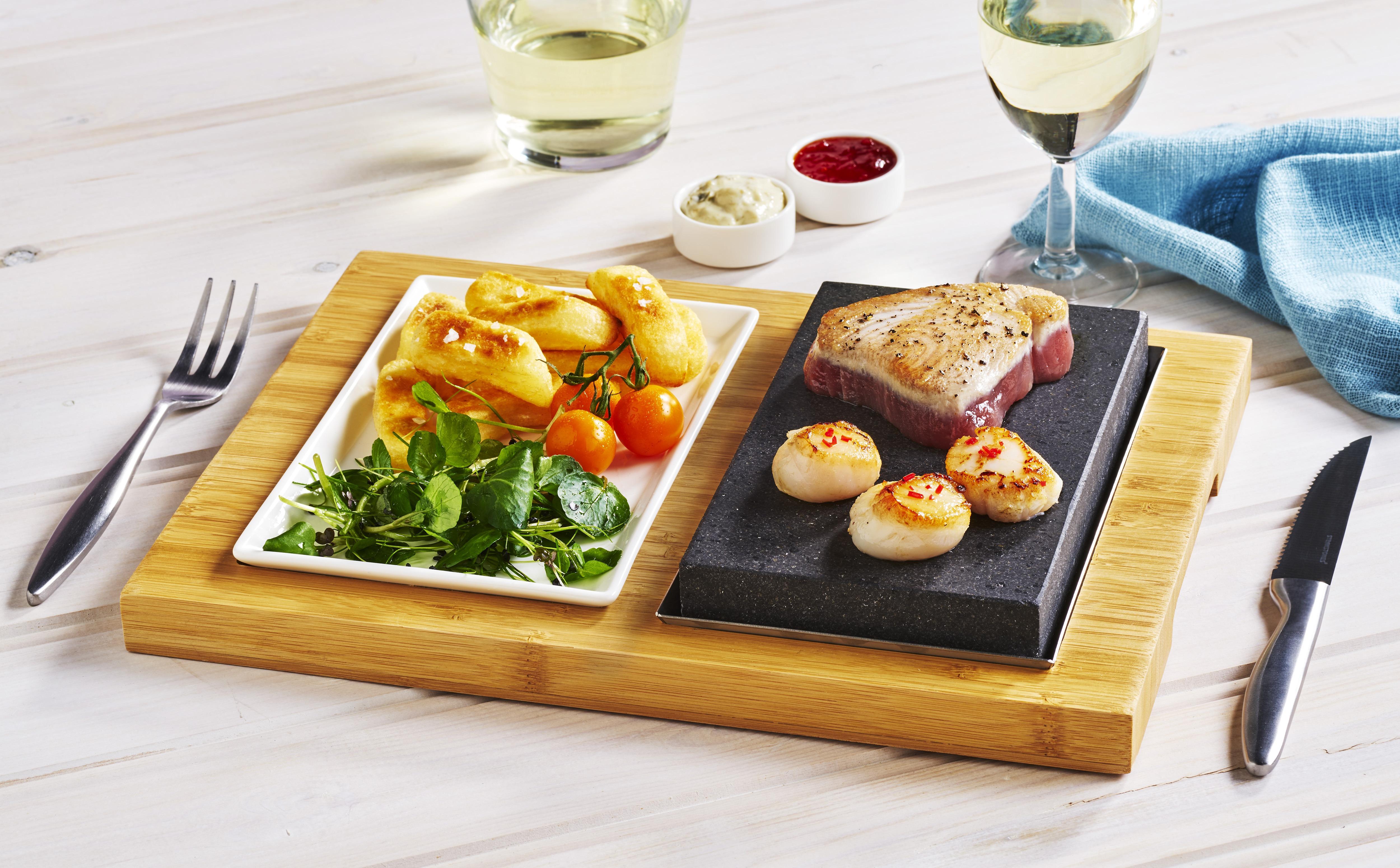 Tuna & Scallops on the Steak & Sides Set