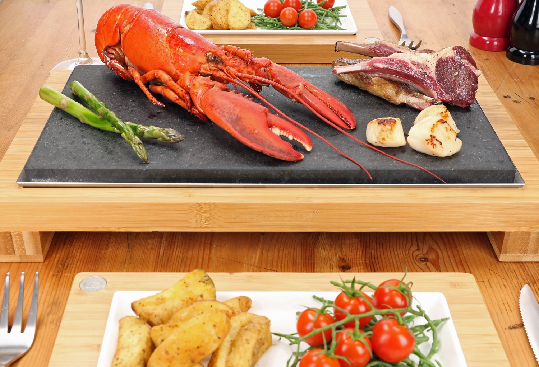 Lobster & Lamb on the Raised Sharing Steak Plate