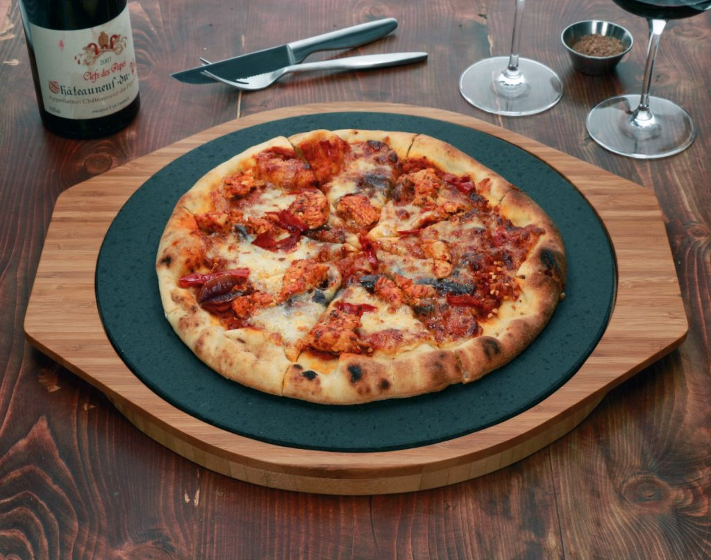 Hot and Crisp Pizza Every Slice with the SteakStones Poizza Stone Set - the best Hot Stone Cooking Products Guaranteed