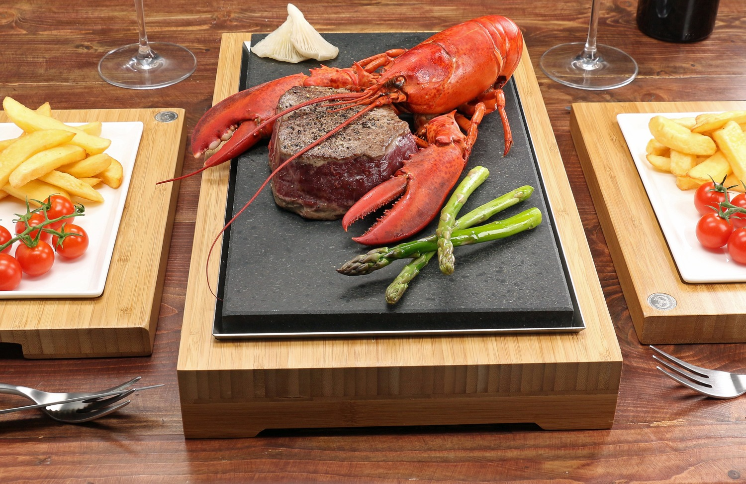 The Ultimate Surf & Turf on the Stone with Sizzling Fillet & Lobster